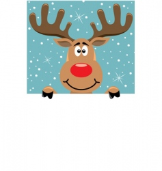 Rudolph Christmas background vector