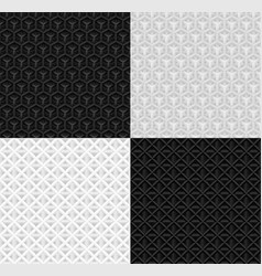 seamless volumetric geometric paper pattern vector image