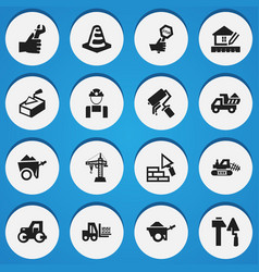 Set 16 editable structure icons includes vector