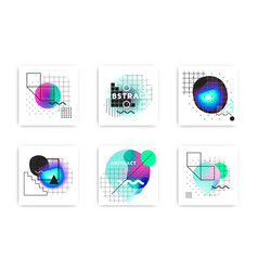 set modern abstract vector image