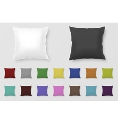 Set of realistic colored pillows vector