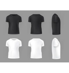 Set template of male T-shirts vector