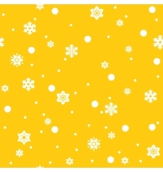 Snowflakes seamless pattern vector