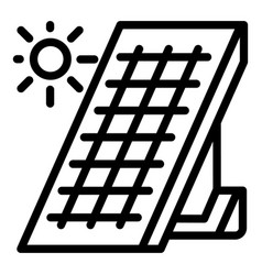 Solar panel energy icon outline style vector