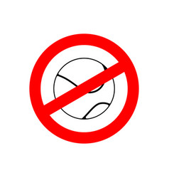 stop tennis prohibited team game red prohibition vector image