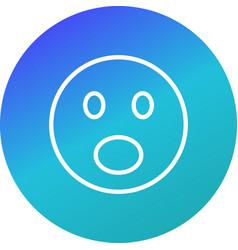 Surprised emoji icon vector
