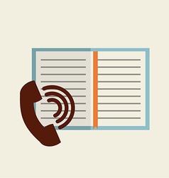 Telephone icon design vector