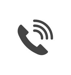 telephone icon graphic design template vector image