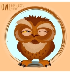 Tricky brown owl cartoon series vector