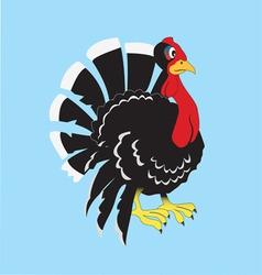 Turkey cartoon vector image