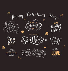 valentine day hand drawn calligraphy quotes vector image