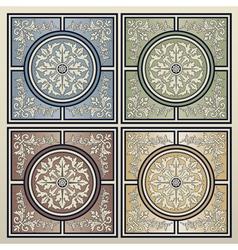 Vintage tile background vector