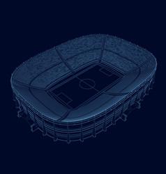 Wireframe stadium isometric view stadium vector