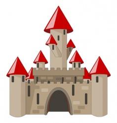 Cartoon castle isolated on white vector