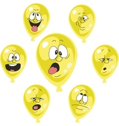 Emotion yellow balloon set 002 vector image