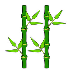 green bamboo stem icon cartoon vector image vector image