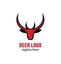 head deer mascot stock vector image
