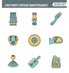 Icons line set premium quality of car parts repair vector image vector image