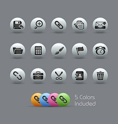Interface Icons Pearly Series vector image
