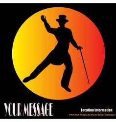 top hat and tails vector image vector image