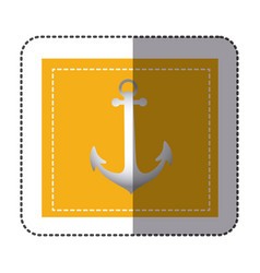 color sticker frame with anchor vector image vector image