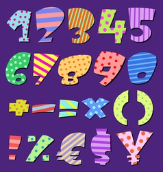 comic numbers vector image