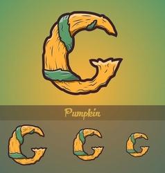 Halloween decorative alphabet - G letter vector image vector image