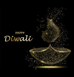 happy diwali greeting card deepavali light and vector image vector image