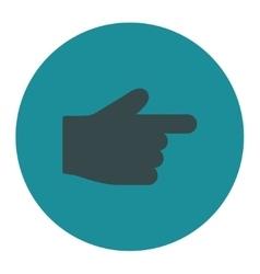 Index finger flat soft blue colors round button vector
