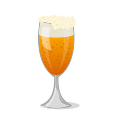 beer mug with foam isolated icon vector image vector image