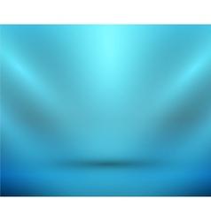 blank light room blue vector image vector image
