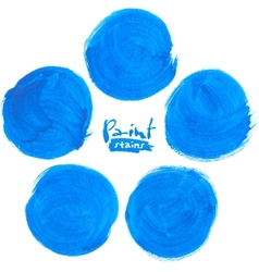 Blue circlemarker stains set vector image vector image