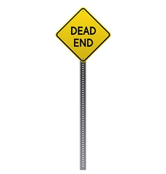 Dead End road sign vector image vector image