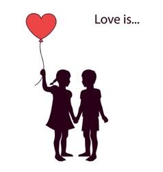 Loving kids vector image