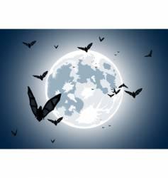 realistic moon vector image vector image