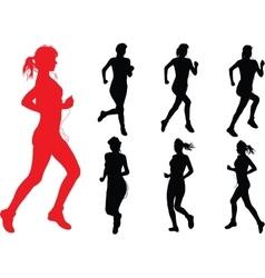 Run Girls vector image vector image