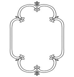 Russian style black ornamental decorative frame vector image