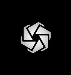 spin circle technology logo vector image vector image