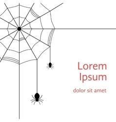 black cobweb with spiders vector image
