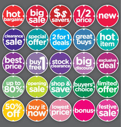 Complete Set Sales Promotion Labels vector image vector image