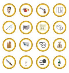 crime cartoon icon circle vector image