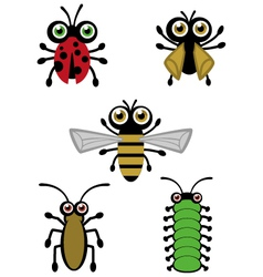 Cute Little Bugs vector image vector image