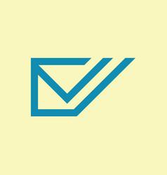 envelope message logo vector image