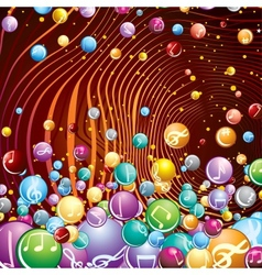 Funky Musical Background Image vector image