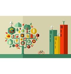 Green city concept vector image