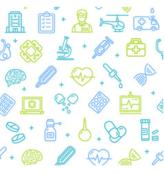 medicine symbols and signs pattern background on a vector image vector image