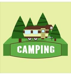 RV camping vector image