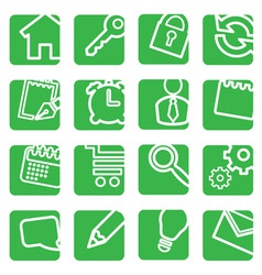 set of simple icons for decoration vector image vector image