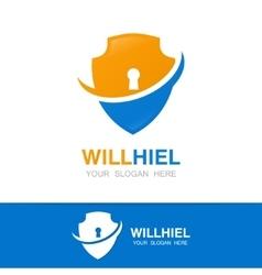 shield logo design template vector image vector image