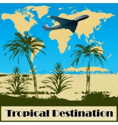 tropical destination vector image vector image